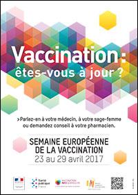SEMAINE EUROPÉENNE DE LA VACCINATION du 23 au 29 avril 2017