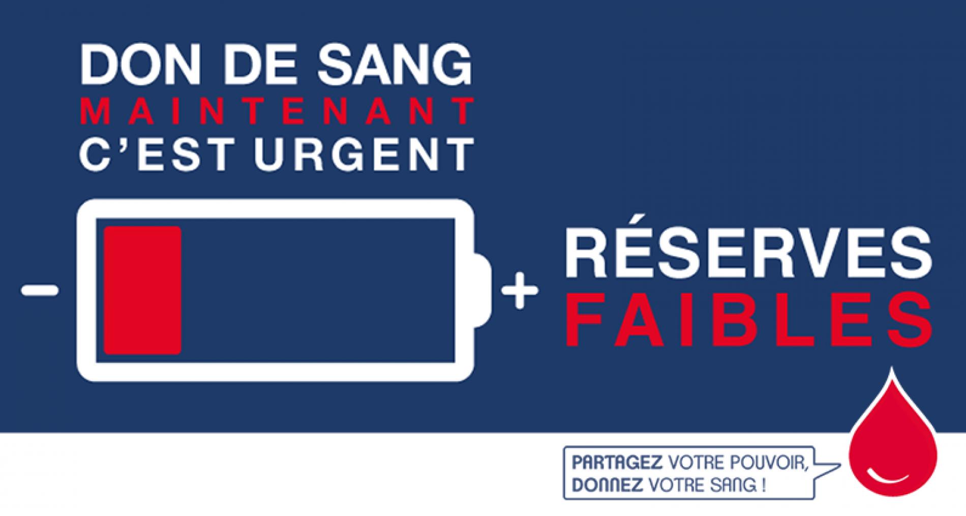 Appel au don de sang : c'est urgent !